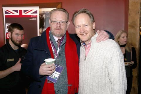 Jared Harris (L) and Chris O'Connor at We Are UK Film reception, Sundance 2016